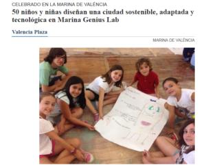 Niños marina genius lab
